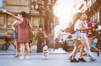 Περπατώντας στην πόλη με το σκύλο